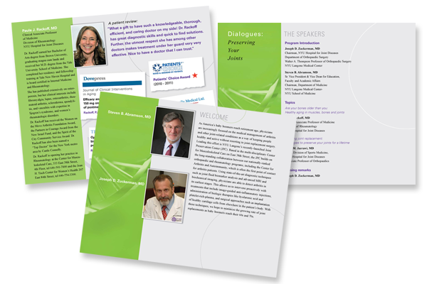 Event Booklet for NYU Langone Dialogues series